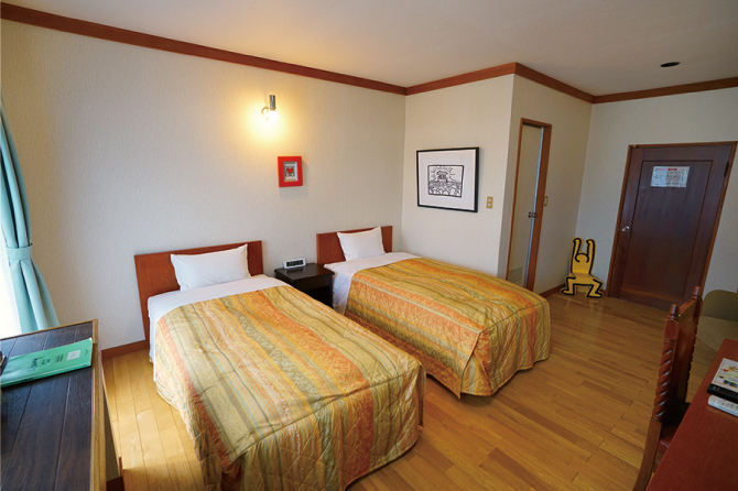 Western-style guestroom (standard twin) / 5 rooms